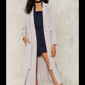 Lavish Alice Jackets & Blazers - Slate to the Party Double Layer Coat