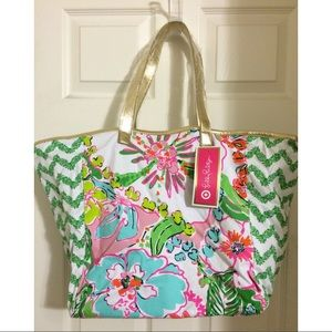 Lilly Pulitzer for Target Handbags - Lilly Pulitzer Target Nosey Posey Hobo Tote