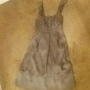Charlotte Russe Dresses & Skirts - CHARLOTTE RUSSE GREYISH BROWN DRESS SIZE L