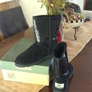 Lamo Shoes - New in box Lamo black sequin suede boots