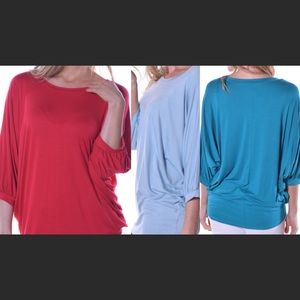 Pastels Clothing Tops - Red Blue tunic style top🌱🌸🌱