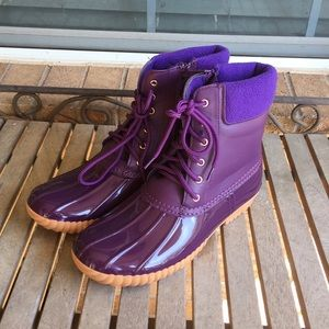 Daily Shoes Purple Rain Snow Boots