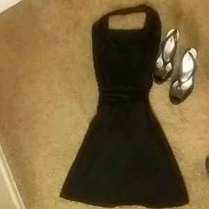 Charlotte Russe Dresses & Skirts - HOTKISS SILKY BLACK OPEN BACK DRESS SIZE S