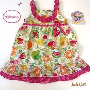Youngland Other - Youngland summer watermelon dress sz 3t