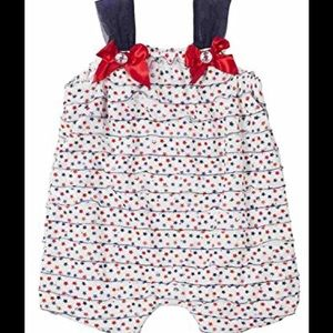Little Lass Other - 🇺🇸🎉HP🎉🇺🇸Red, white, and blue romper