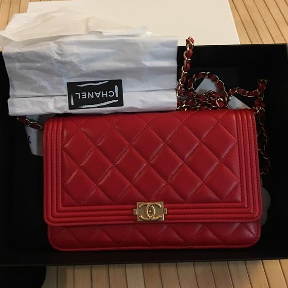 70feb1f5e999 CHANEL Bags | Nwt Boy Woc Red | Poshmark