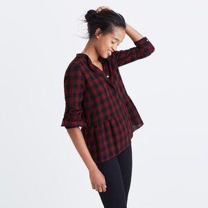 Madewell Tops - 🆕 Madewell Lakeside Peplum Shirt