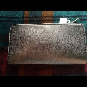 Fossil Two-Tone Metallic Taupe Wallet