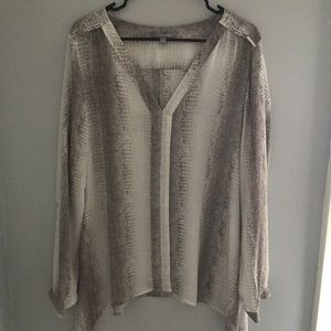 NY Collection Tops - NWOT Snake print blouse