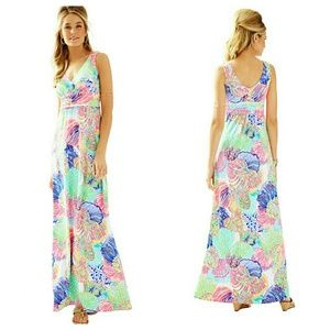 HP Lilly Pulitzer Sloane Printed Maxi Dress XS