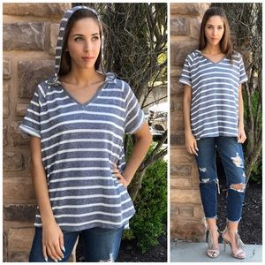 Threads & Trends Tops - Blue Willow Hoodie Top