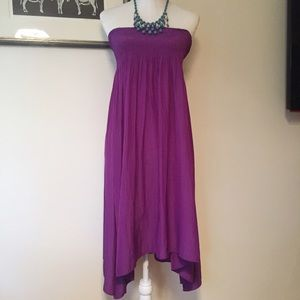Calypso St. Barth Dresses & Skirts - Calypso St Barth purple strapless tube dress flowy