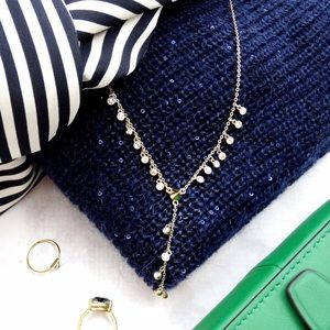 Rebecca Minkoff Jewelry - Crystal and Spike Y Necklace