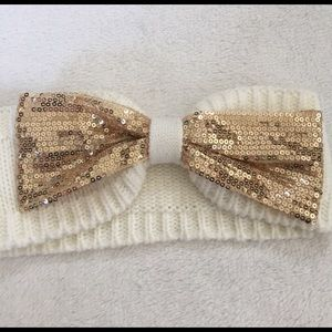 Accessories - sparkly gold and cream headband