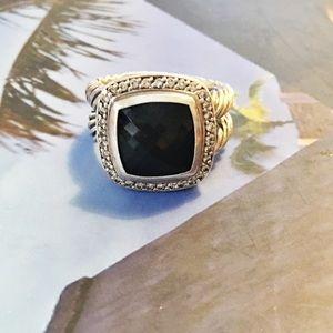 David Yurman Jewelry - David Yurman Albion Ring: black onyx and diamonds