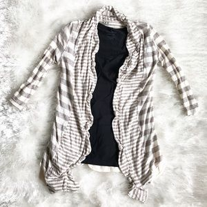 Three Dots Sweaters - THREE DOTS Knotted Front Open Cardigan