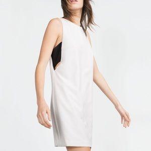 Zara Dresses & Skirts - ZARA Woman White Black Bandeau Sleeveless Dress