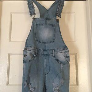 american bazi Denim - Skinny Overall Jeans