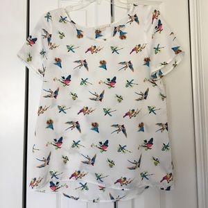 cooper & ella Tops - Cooper & Ella white sparrow short sleeve top