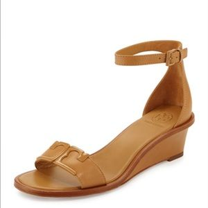 Tory Burch Shoes - Tory Burch Marcia Leather Demi-Wedge Sandal, Blond