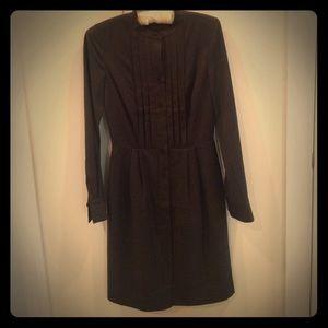 J. Crew Dresses & Skirts - J. Crew collection wool flannel tuxedo shirt dress