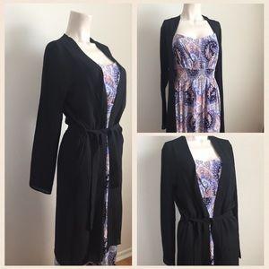 Guess long sleeve black kimono
