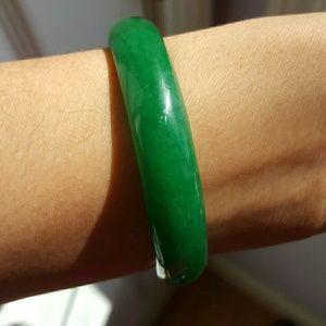 Natural stone jade bangle, size 2.4 inches