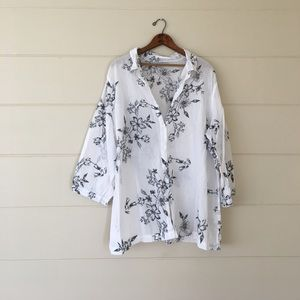 Sag Harbor Tops - Floral button down
