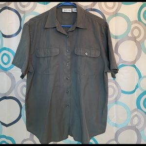 Apparenza Tops - Apparenza top short sleeve button up olive Large