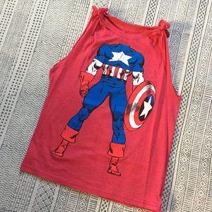 Marvel Tops - 💪🏽 DIY Captain America Muscle Tee