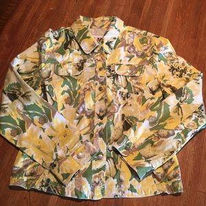 Ami Jackets & Blazers - AMI Floral Jean Jacket, size XL