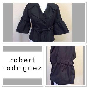 Robert Rodriguez Jackets & Blazers - 4 ROBERT RODRIGUEZ black bell sleeve jacket