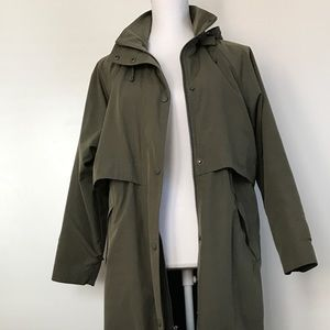 LL bean wmn hoodie rain coat with removable liner