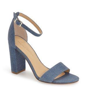 Ivanka Trump Shoes - Ivanka Trump Klover chambray denim block heels