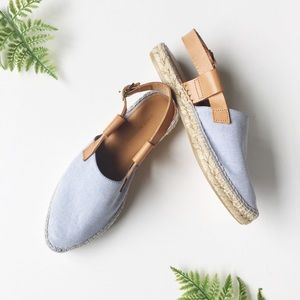 Matt Bernson Shoes - Matt Bernson Chambray Canvas Espadrilles