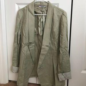 Oversized linen blazers