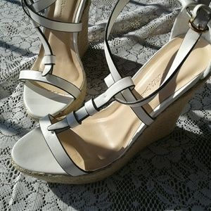 Wild Diva Shoes - Wild Diva wedge white sandals