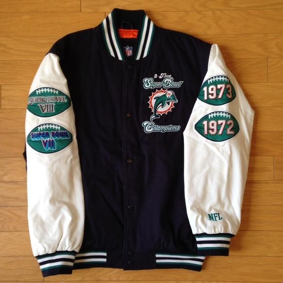 new style b5848 c7e44 Miami Dolphins Super Bowl Jacket - size L