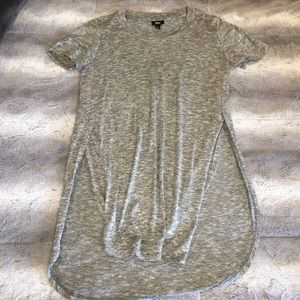 Speckled Gray Top W Slits on Sides