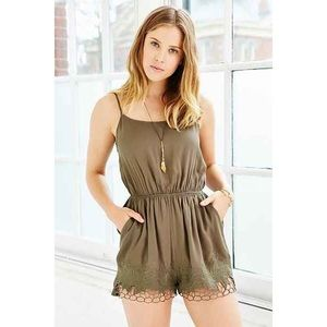 Urban Outfitters Pants - Olive green romper