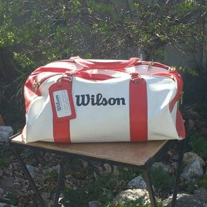 Wilson Other - Cool Vintage Red and White Wilson Duffle