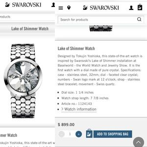 3a845f41e9744f Swarovski Accessories - SALE 🎉Authentic Swarovski Lake of Shimmer Watch