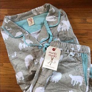 NWT Munki Munki Arctic Animals Pajamas