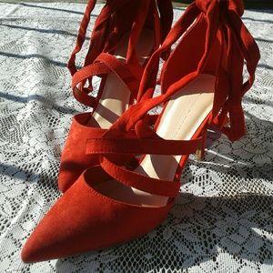 Wild Diva Shoes - Red Wild Diva pumps