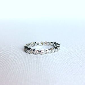 Boutique Jewelry - Sterling Silver & Cubic Zirconia Eternity Band