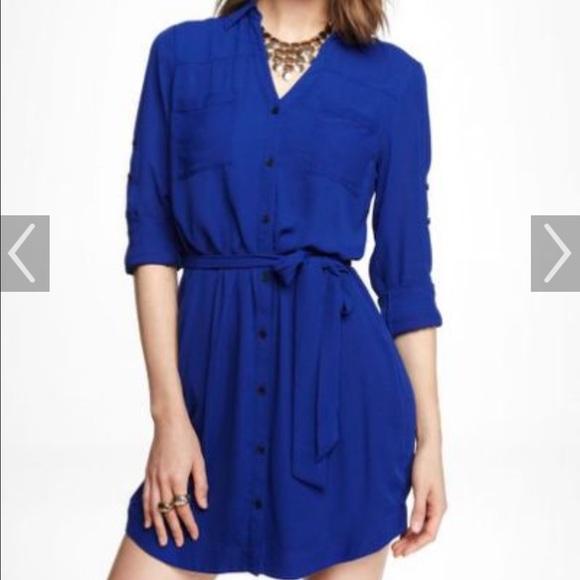 d8b959b788 Express Dresses   Skirts - Royal Blue Express Portofino shirt dress MED