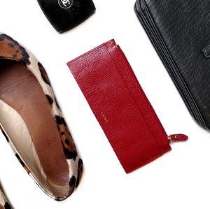 Lodis Handbags - Lodis Red Leather Minimalist Wallet