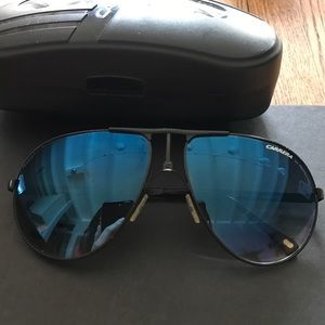 Carrera Other - Carrera Semi Matte Black Blue Gradient Sunglasses