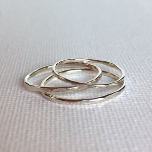 jewelee1 Jewelry - RESERVED Set of 3 Sterling Silver Midi Rings
