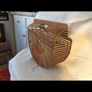 Reclaimed Vintage Handbags - Vintage 1960's bamboo purse